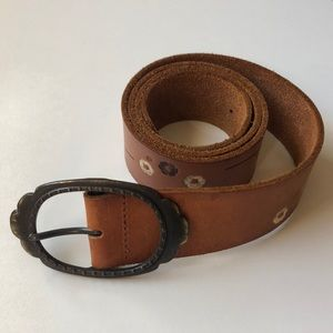 Abercrombie & Fitch Genuine Leather Floral Belt